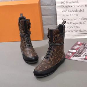 2018 FW Luxury women designerluxury hombres zapatos botas de cuero real zapatos de invierno zapatos de tacón alto con caja de polvo bolsa