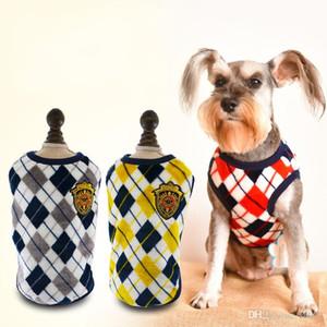 Популярные фланель собака одежда ромбической решетки печати жилет одежда мягкая простой в использовании осенью зимой тонкой работы Бардиан 16 8aw10 dd