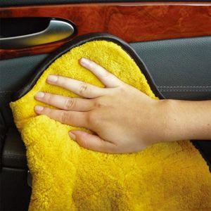 لون عشوائي 45cmx38cm العناية سوبر سميكة أفخم سيارة ستوكات تنظيف الملابس سيارة مجهرية شمع تلميع تفصيل المناشف