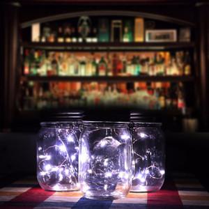 Novo Design 3 Pcs Solar Mason Jar Luz De Fadas Com Led Branco Para Frascos De Pedreiro De Vidro Festa de Casamento Decorações de Luz de Casamento