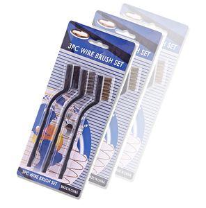 3 adet Mini Paslanmaz Çelik Kaldır Pas Fırçaları Mini Pirinç Temizleme Parlatma Detay Metal Fırçalar Temiz Araçları Ev Kitleri