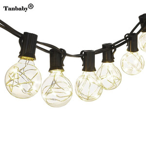 Taby 220V 5.5M G40 Globe Bulb Copper Wire Retro LED String Lights Lamp For New Year Party Christmas Party Decoration