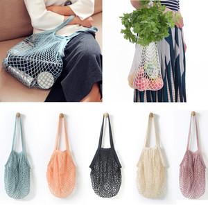 мода строка покупки фрукты овощи продуктовая сумка покупатель тотализатор сетка Сетка тканые хлопок сумка ручной тотализаторы сумка для хранения c560