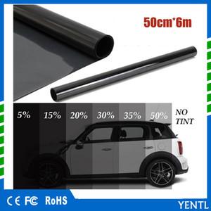 yentl el envío libre al por mayor del 5% Auto casa del coche del rollo PLY Auto Glass Protección Solar 50cm x 6M Negro de cristal de la ventana del tinte de sombra de la película VLT