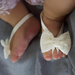 Fashion Baby Sandals Summer Beautiful Lace Barefoot Toddler Baby Foot Flower Anklet Baby Girl Sandals