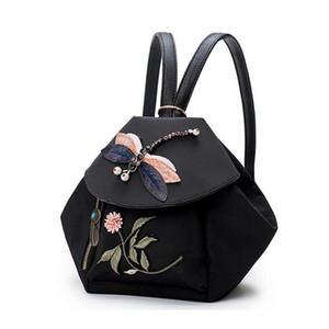 YUBIRD Brand Fashion Women Mochila Bordado 3D Dragonfly Rhinestones Small Mochila Casual Bag Girl Oxford Travel Mochila