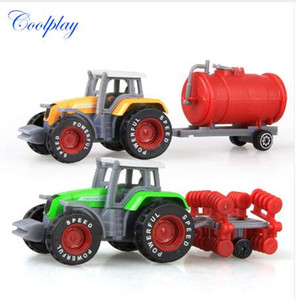 Coolplay 2PCS Alloy Engineering Car Model Farmers Truck Model Simulation Juguete educativo Vehículo Vehículo Car para niños {