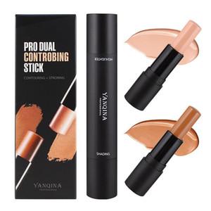 YANQINA Pro 듀얼 콘트롤 스틱 하이라이트 & 쉐이딩 2 in 1 Facial Makeup Bronzers Highlighters