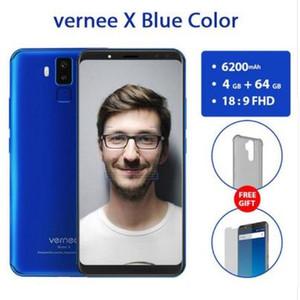 "Vernee X 4GB 64GB 5.99 ""18: 9 Pantalla Reconocimiento facial MobilePhone MT6763 Octa Core 6200mAh Android7.1 OTG 16MP 4 cámaras"