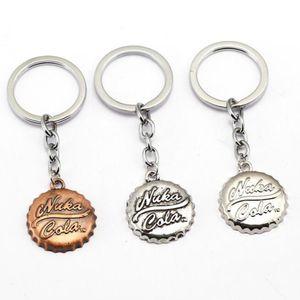 1 Pc Hot Cool jeu Fallout 4 Beer Cap Forme Pendentif Keychain Porte-clés Mode Voiture Nice Key Key Holder porte-clés
