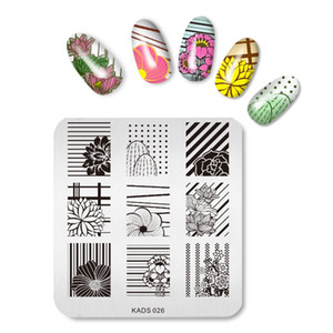 Hotsale Flowers Nail Art Image Sello Placas de estampado Manicure Template Series Nail Art Stamp Plate
