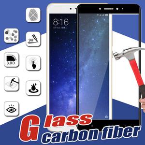 Carbon-Faser-3D-ausgeglichene Glas-Volldeckung Härte Schirm Schutz Schutz Film für Xiaomi Mi 8 SE 6 Plus 6X 5 5C 5X 5S Anmerkung 3 Mix 2S Max 2