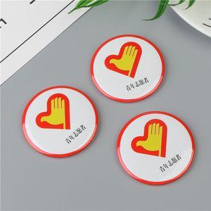 Made in China Heat Badge Promozionale scuola riflettente Tin Security Security Magnetic Name Button Metallo personalizzato Pin Badge emblema
