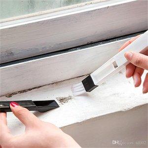 Щелевая щетка для многоцелевой кухня туалет двери окна Groove клавиатуры Scourer щетки для очистки с совком горячей продажи 0 65bx в