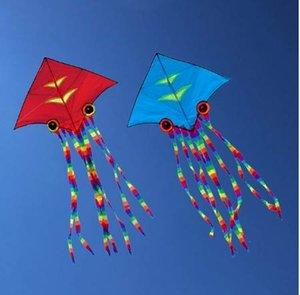 Hochwertiger, riesiger Tintenfisch / Tintenfisch-Delta-Drachen mit langen Schwänzen im Freien als Spielzeug für KidsAdults Beach and Square