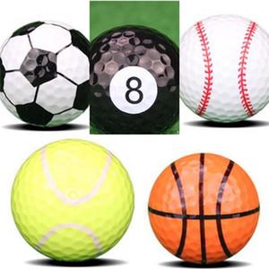 Nueva pelota de golf Muchos estilos Fútbol Baloncesto Béisbol Tenis Rugby Billar Kernel Elastic Rubber Dupont Shell Tapping 3jl dd