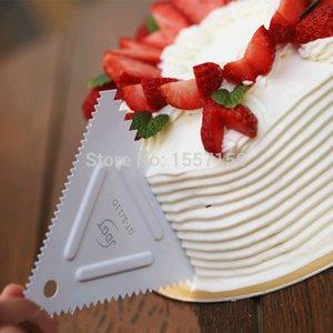 Commercio all'ingrosso - in acciaio inox triangolare dente raschietto, fare tre diversi spaziatura modello torta, bordo raschietto, bench knife bench raschietto