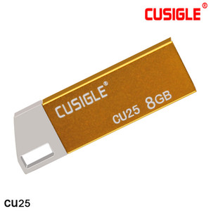USB 플래시 드라이브에서 CUS25 CU25 금속 16GB 32GB 64GB 아연 합금 쉘 휴대 성 (둥근 직사각형 구멍 포함)