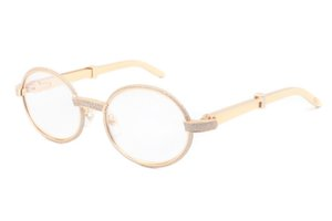 New and unique full frame full drill glasses frame 7550178 (A) high-end metal temple glasses,