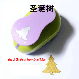 2.5cm-7.0cm Рождественская елка пена Punch Diy Craft Punch Hole Puncher Scrapbook Бумага Cutter Hole Cortador Papel Scrapbooking