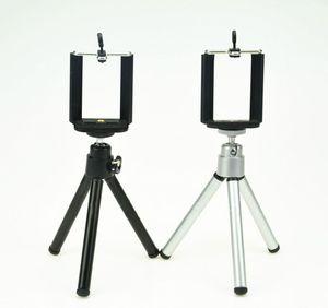 Rotación universal mini trípode del metal del soporte del titular con clip para la cámara del teléfono del teléfono móvil para iPhone Samsung