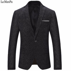 La Maxpa hommes de la mode costume blazers veste chanteur occasionnel slim fit printemps automne partie mariage prom business blazer conceptions