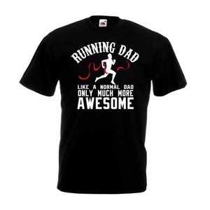 Running Dad T Shirt Awesome Fathers Day Mejor Runner Cumpleaños Navidad Regalo Top