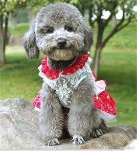 Grembiule in morbido cotone traspirante facile da pulire Abbigliamento per cani con indumenti colorati a tinta unita Cute Cute Fashion To Small Dogs 21hxa6 ZZ