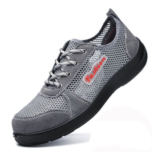 Summer Breathable Mesh Work Safety Shoes Steel Toe Caps Work Safety Puncture Proof Boots for Men Outdoor Casual Working Shoes