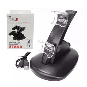 충전 도크 PS3 게임 컨트롤러 충전기 듀얼 USB는 소매 패키지와 무선 플레이 스테이션 3 충전기 스탠드