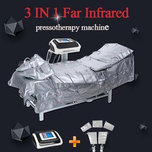 CALIENTE ! 3 In1 muscular infrarrojo lejano Presoterapia ccsme eléctrico Presión Estimulación Sauna Aire Presoterapia Drenaje Linfático cuerpo adelgazar máquina