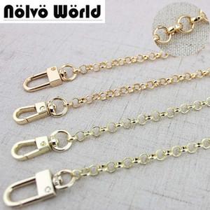 1 Stück 60-130cm Gold / Light Gold 6mm O Kette Metall Kette Schulter Crossbody Strap für kleine Handtasche Tasche Ersatz