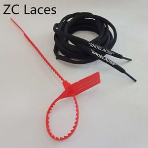C.2018 lacet rouge de lacets de lacet de boucle avec des lacets de chaussure colorés imprimant l'impression de silicone ovale de polyester de chaussures à lacets avec l'étiquette de fermeture éclair