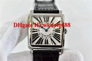 GF factory Luxury MASTER SQUARE 6002 женские часы швейцарский кварцевый механизм квадратный корпус сапфировое черный ремешок из телячьей кожи