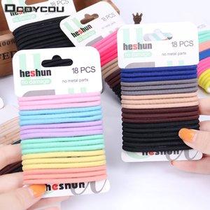 18 Unids / set Kids Color Hair Tie Set Mujeres Moda Bandas de pelo Accesorios de Moda Hairband Mujeres Elástico Conjuntos Trenza Elástica