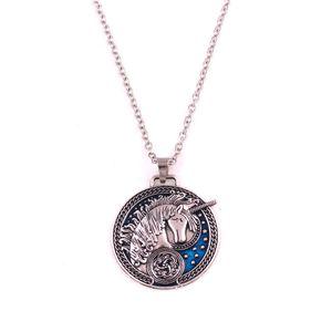 Fashion Women Men Necklace Design Unicorn And Flower Pattern With Beautiful Enamel Personality Gift Zinc Alloy Provide Dropshipping