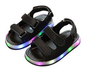 AI LIANG NEW Summer Led Light Shoes Children Sandals Boys Girls Fashion Lighted Sandals Kids Baby Luminous Shoes