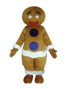 2018 High quality hot gingerbread man mascot costume for adult new Christmas gingernut gingersnap theme anime costumes carnivcal fancy dress