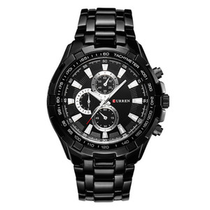 CURREN оригинальный хорошее качество Мужские спортивные водонепроницаемые из нержавеющей стали Кварцевые наручные часы 8023