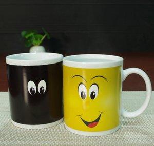 Eco-Friendly Sorriso Temperatura Colour Sensing magica cambiante della tazza del Chameleon della tazza di caffè latte Tazza da tè della novità Gifts 330ml