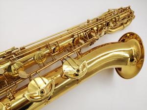 Livraison Gratuite Marque Instruments YANAGISAWA B-901 Saxophone Baryton Nouvelle Arrivée En Laiton Plaqué Or Surface Sax Avec Embouchure Étui En Toile