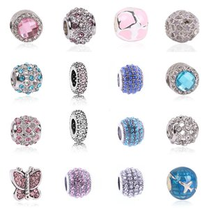 1pcs Silver Color Charm and European Crystal Heart Fashion Bead Fit Pandora Bracelets & Women DIY Jewelry Gifts