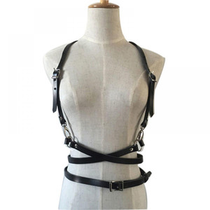لا شيء عبودية أزياء الشرير الحمالات الأشرطة جلدية المتناثرة قفص الجسم الأربطة o- حلقة فو حزام النحت تسخير حزام الخصر