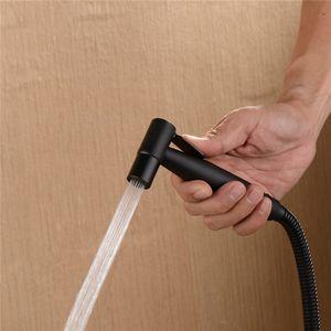 Handheld Bidet Spray Black Shower Sprayer Set WC Shattaf Sprayer Douche Kit Bidet Wasserhahn, 304 Edelstahl