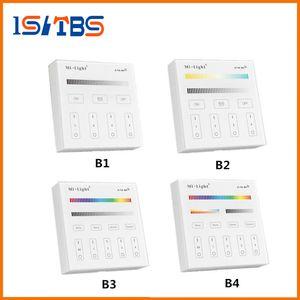 Mi Light B1 B2 B3 B4 Контроллер панели 2 X Батарея AAA 2.4G RF Сенсорный экран управления для CCT DIM RGB RGBW RGB + CCT Светодиодная лента