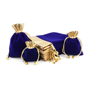 Velvet Jewelry Drawstring Packaging Pouch Fabric Jewellery Multi-purpose Small Choice Gift Bag Bags Cosmetic Size Custom LogoFree Shipp Koum