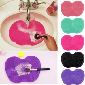 Date Silicone brosse nettoyant Cosmétique Make Up Brosse de nettoyage Gel Nettoyage Mat Fondation Maquillage Brosse Cleaner Pad Scrubbe Conseil