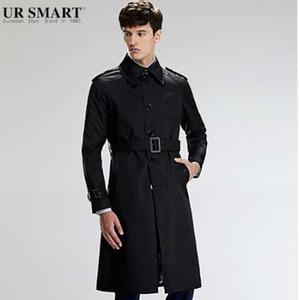 Trench-Coat Homme Noir URSMART