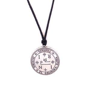 Nuevo diseño Unisex Charm Necklace Fashion Archangel Name THAVAEL Escrito con Strange Runes Regalo Zinc Alloy Provide Dropshipping