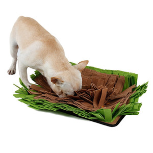 Cão Snuffle Mat Sniffing Mat Alimentação lenta Mat Finding Toy Brinquedos Interativos Incentiva Natural Foraging Skills